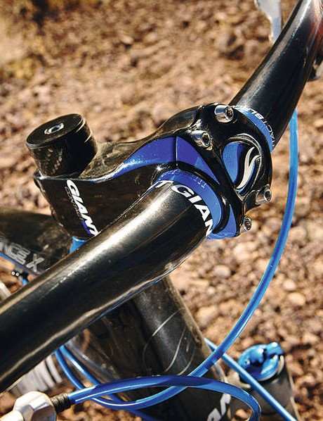 Giant's new carbon stem is as fat, curvy and stiff as the frame