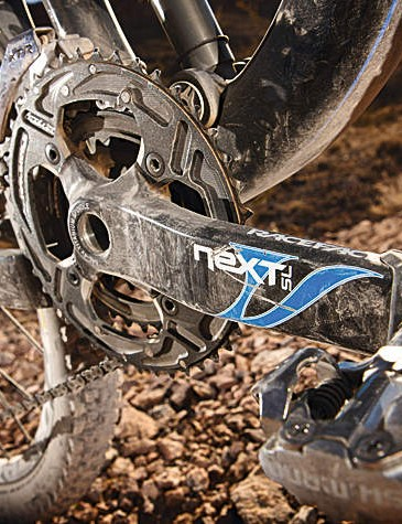 Even the race face cranks get the colour coded treatment