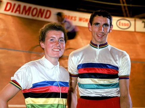 Beryl Burton and Graham Webb at the 'London 6' in 1967