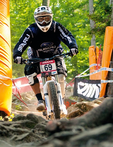 Team rider Fabien Barel pilots his Summum to victory at this year's Andorra World Cup