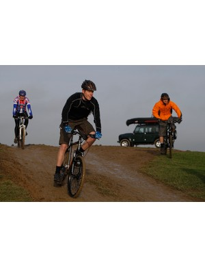BikeRadar's Matt Cole tries out one of Land Rover's new mountain bikes