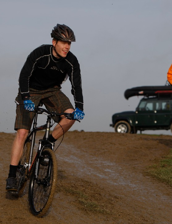 BikeRadar's Matt Cole tries out one of Land Rover's new mountain bikes