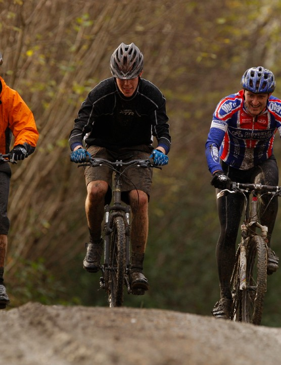 (Left to right) MBR magazine's Danny, BikeRadar's Matt Cole and Tim Higgins