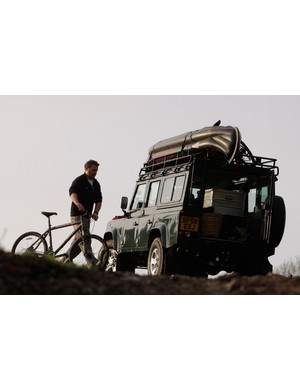 Land Rover and bike