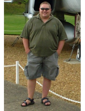 Clive in September 2008. By June 2009 he had reached 22 stone 4lb