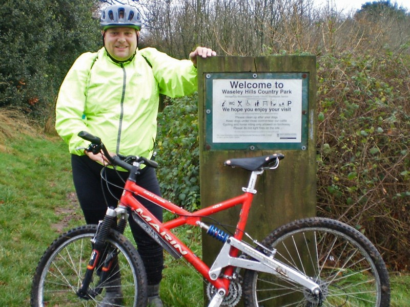 Clive Chapman has lost three stone since he started cycling again six months ago, and he's determined to keep it up