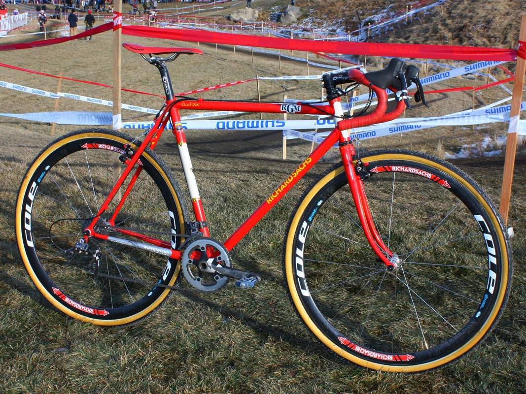 Some might consider steel frames and forks to be too heavy for cyclo-cross but Dan Timmerman (Richard Sachs-RGM Watches) let his legs do the talking this year