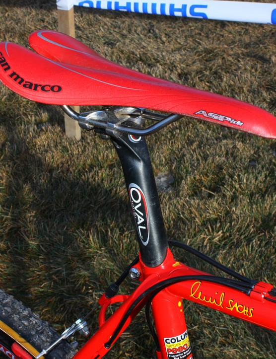 Selle San Marco make special red Aspide saddles just for Sachs