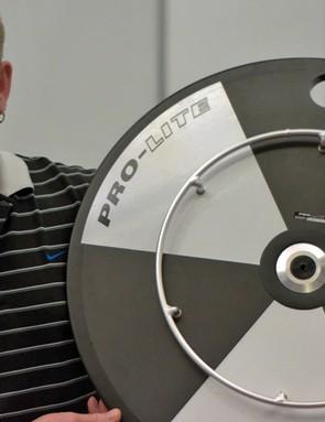 Steve Fenton with Pro-Lite's wheelchair race wheel