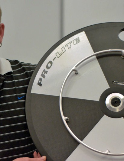 Steve Fenton with Pro-Lite's wheelchair race wheel