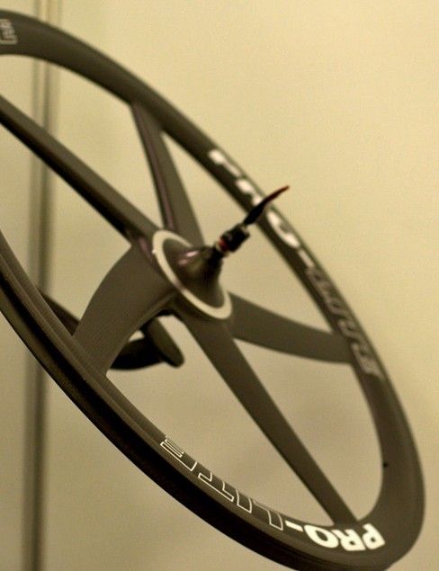 The new Pro-Lite five-spoke carbon wheel