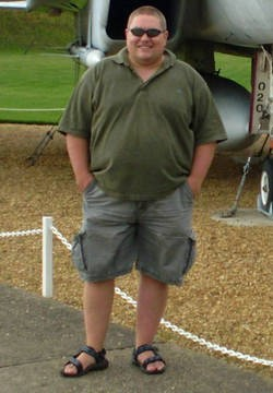Clive in 2008, before he rediscovered cycling