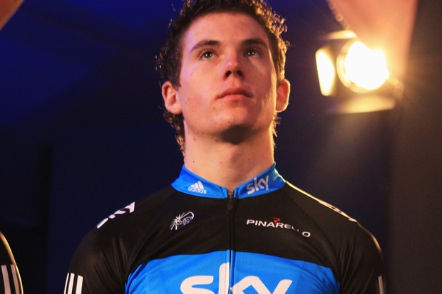 Ben Swift was unveiled as the latest member of Team Sky at the squad's official launch in London today