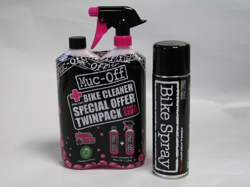 Muc-Off twinpack and Bike Spray