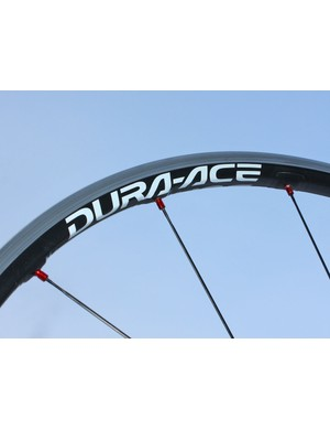 The carbon-reinforced rims are just 24mm deep but are light and spin up quickly