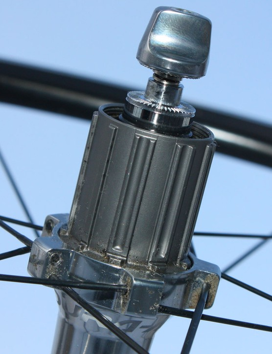 The titanium freehub body is lighter than steel but more durable than alloy.  New internals yield faster engagement than older Dura-Ace hubs, too