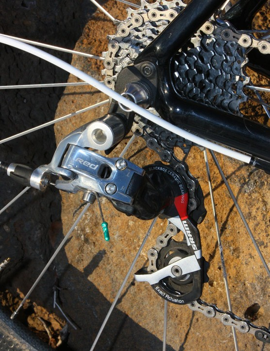 Wells' SRAM Red rear derailleur