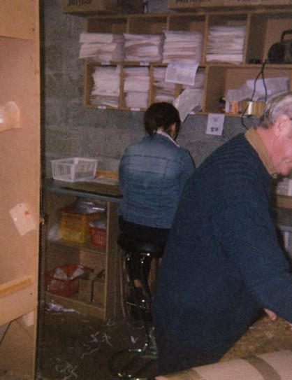 John Dace, one of our longest serving members of staff in a dedicated packing room 1998 – John is still there today