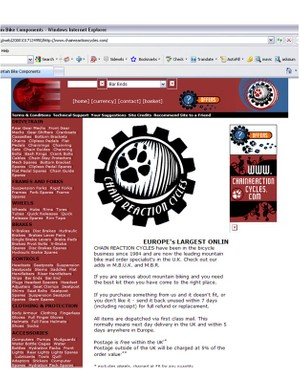 CRC's first website