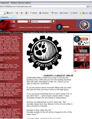 CRC's first website