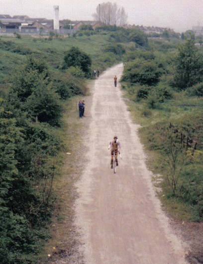 The Bristol to Bath path on its official opening in 1985