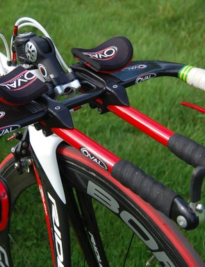 Oval Concepts' aero bars are a common sight on the bikes of pro riders who put a high priority on the vast range of adjustability