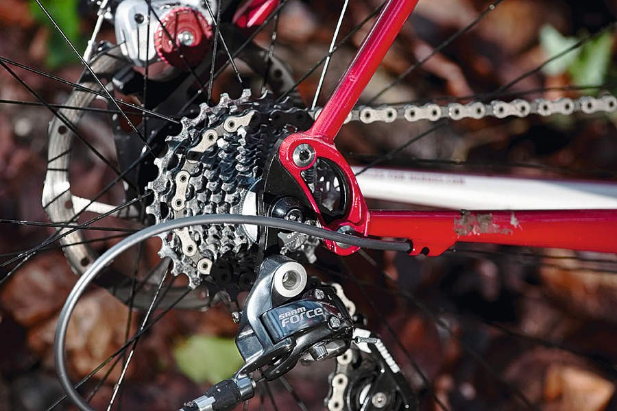There are swappable rear dropouts if you want to go single speed
