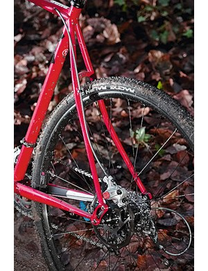 Curvy seatstays take the sting out of rough trails