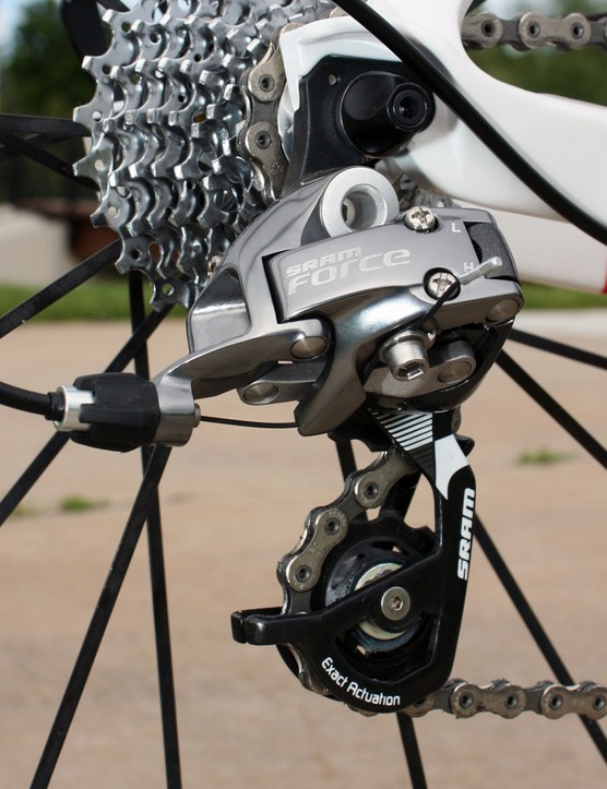 Rear derailleur changes include a new finish and updated unidirectional carbon outer cage plate