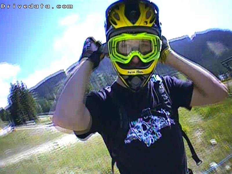 Video: Les Gets helmet cam