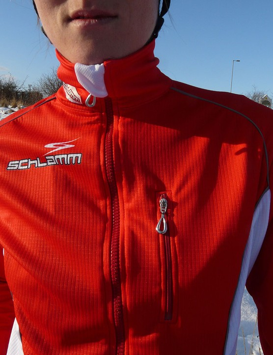 The Tabor jacket features a 4in collar to keep the elements out