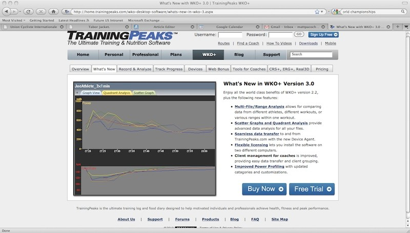 New TrainingPeaks WKO+ version 3.0