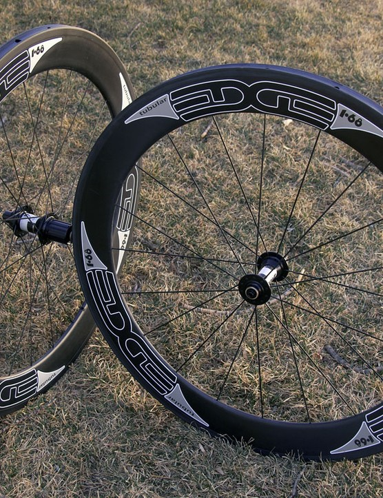 The Edge Composites 1.68 carbon tubulars are light and well built but the straight sidewalls make them difficult to handle in crosswinds