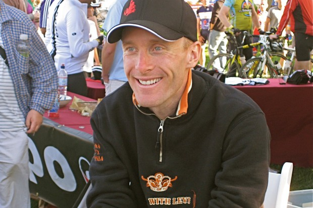 Leipheimer kicking back after his 2009 event.