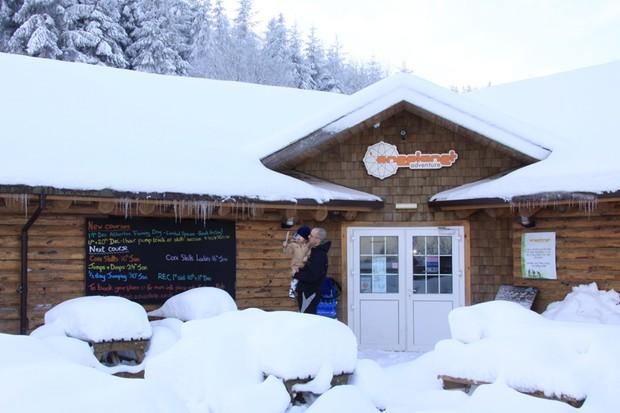 Coed Llandegla has been snowed in since before Christmas