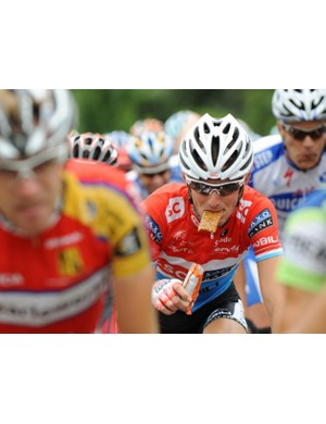 Energy bars play a part in keeping the calories flowing, but avoid chomping on climbs if you want to breathe properly