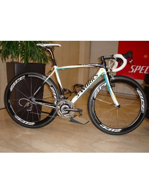 Contador's SRAM Red equipped Specialized Tarmac SL3