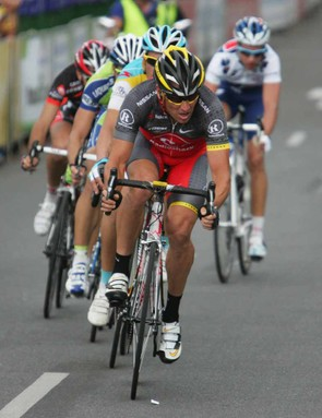 Lance Armstrong leads a breakaway
