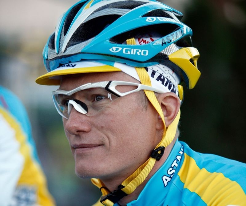 Alexander Vinokourov pre-training ride on January 15, 2010