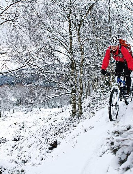 Enjoying the snow-covered trails!