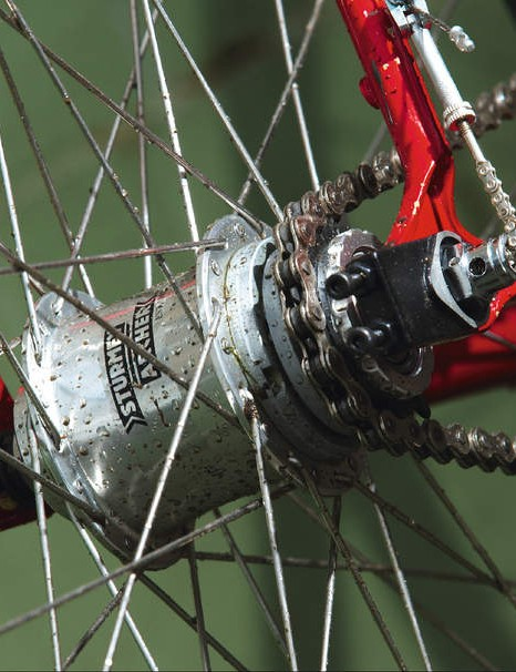 The new three-speed fixed gear hub from gearing experts Sturmey Archer won't be on sale yet