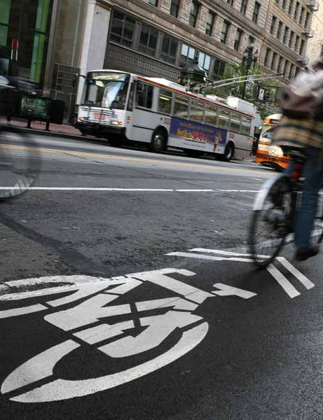 Extra bike lanes are part of the plan to improve things for cyclists in San Francisco