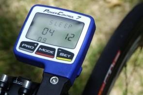 The SRM PowerControl7 computer is becoming a more common sight in the peloton