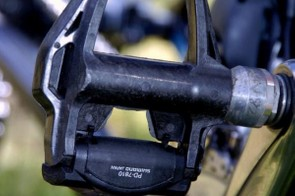 Team Sky were the only noticable team using prototype Shimano Dura-Ace 7810 pedals at the Tour Down Under