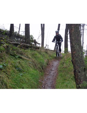 Our guinea pig Ruth Schofield improved her technique on a training course at Afan Forest – so from now on she'll be keeping her pedals level and covering both brakes!