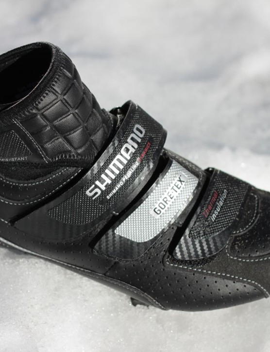 The RW80 features Shimano's offset Velcro straps.