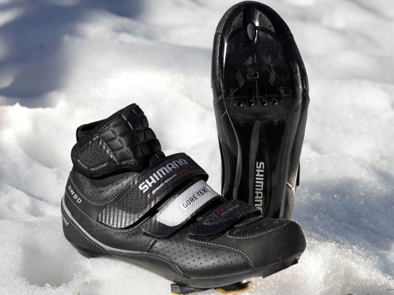 Shimano's RW80 winter road shoe.