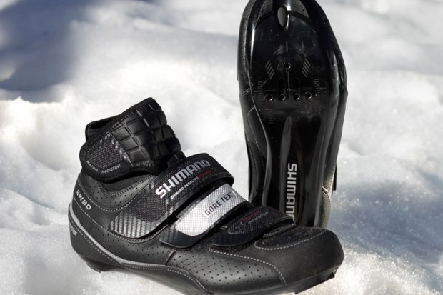 Shimano's RW80 winter road shoe.