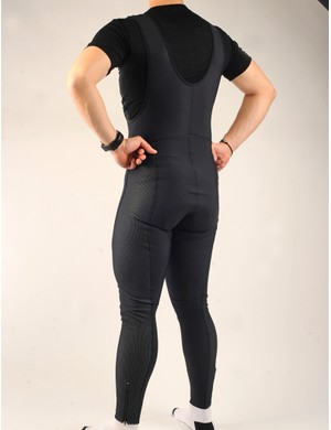WindTex panels are reserved only for the front and side of the tights in order to maintain breathability.  The high-cut torso adds warmth