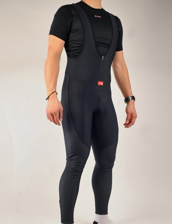 The Capo Limited Edition Roubaix bib tights are fantastically warm with an excellent fit for a windfront piece and a comfortable chamois.